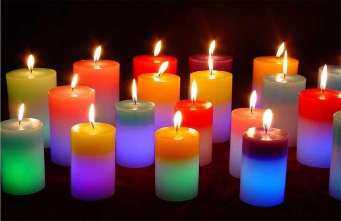 Las velas según su uso en rituales